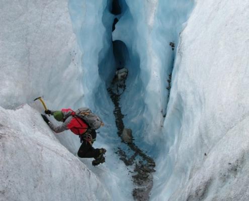 Eisklettern Aletschgletscher